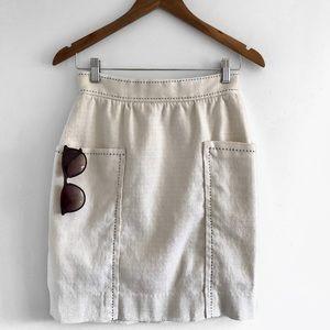 cartonnier anthropologie | ivory high waist skirt